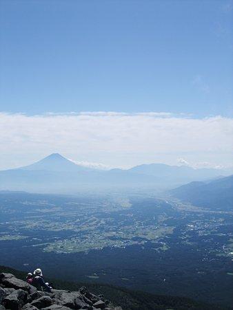 富士と甲府盆地2