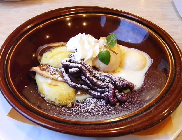 焼き紫芋と栗のプチガレット