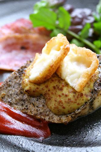 白身魚のマスタードソース