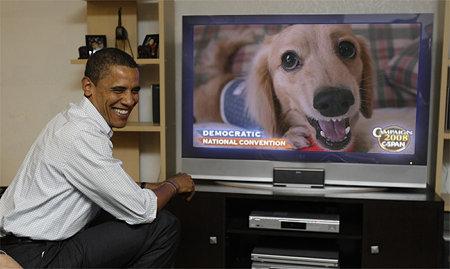 オバマ 摩耶さん見て笑う!