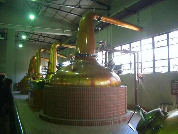 形状の違いにより様々な原酒を生み出しています@サントリー山崎蒸溜所
